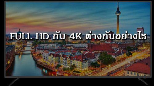 Full HD กับ 4k ต่างกันอย่างไร